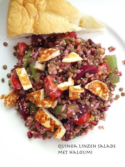 Quinoa linzen salade