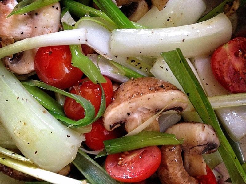 Floyd's salad veggies