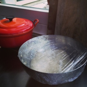 Le Creuset & rising dough