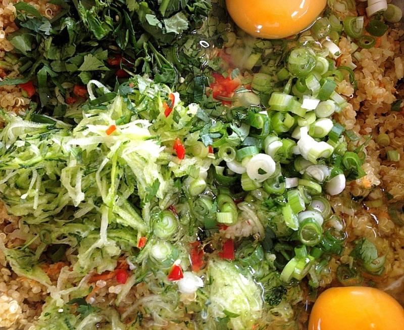 Quinoa Bites prep
