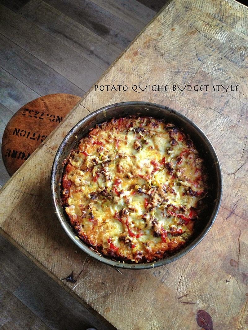 Potato quiche budget style