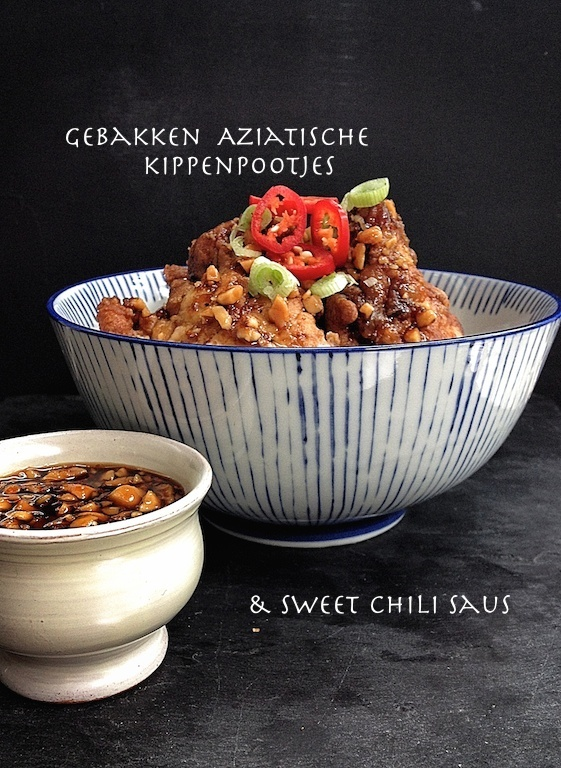 spicy chicken drummets & sweet chili sauce NL
