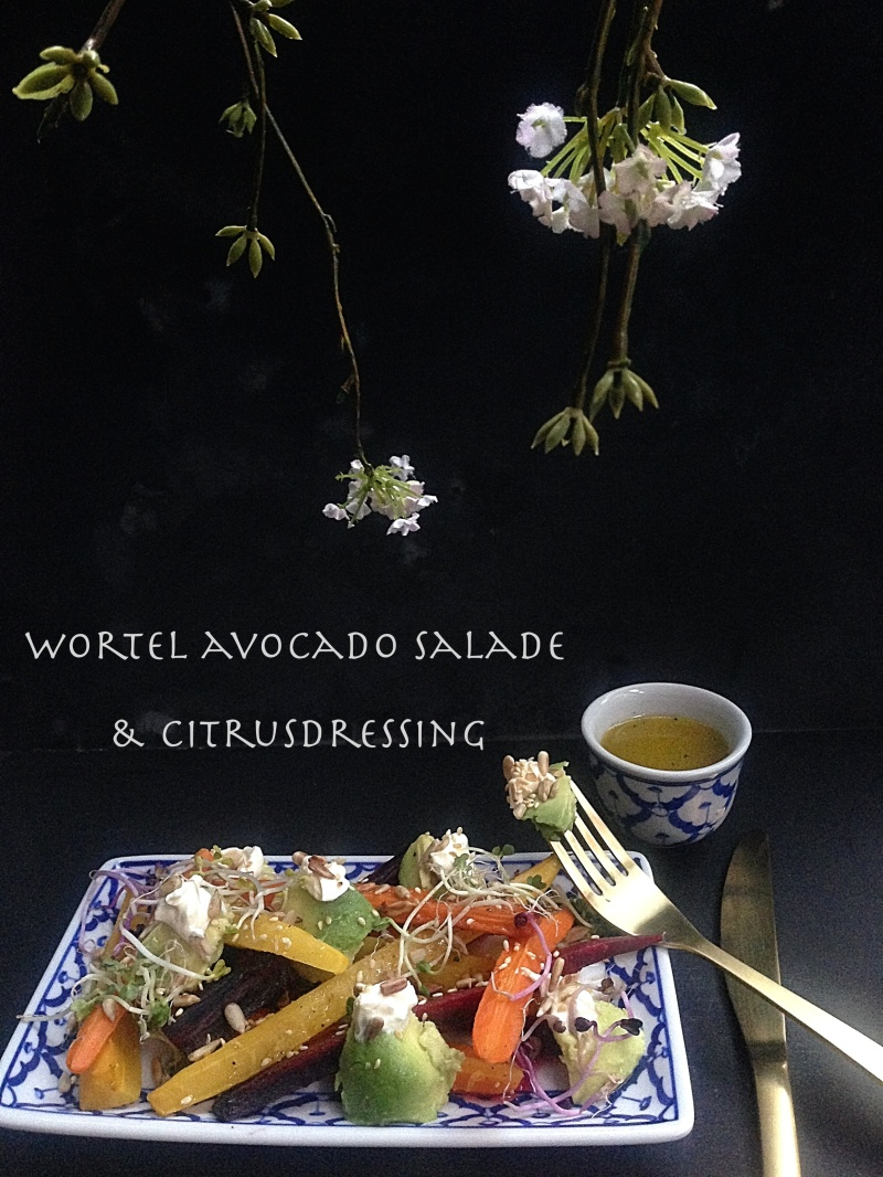 Sandra Verbaas: Wortel avocado salade