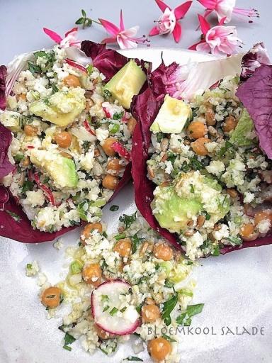 Basket Delights - Cauliflower chickpeas salad